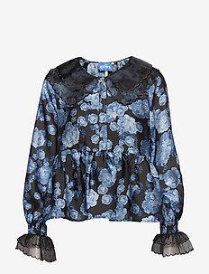 Astridcras Blouse - långärmade blusar - blue rose