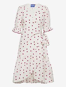 Manoncras wrap dress - zomerjurken - rasberry