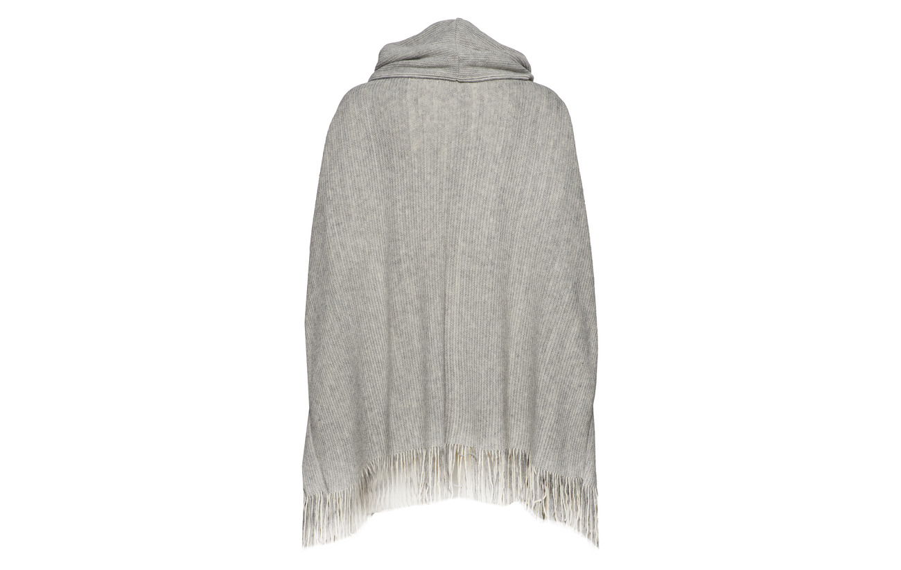 Grey Melange Cream Poncho Wiena Acrylique 100 Light anxOtxg