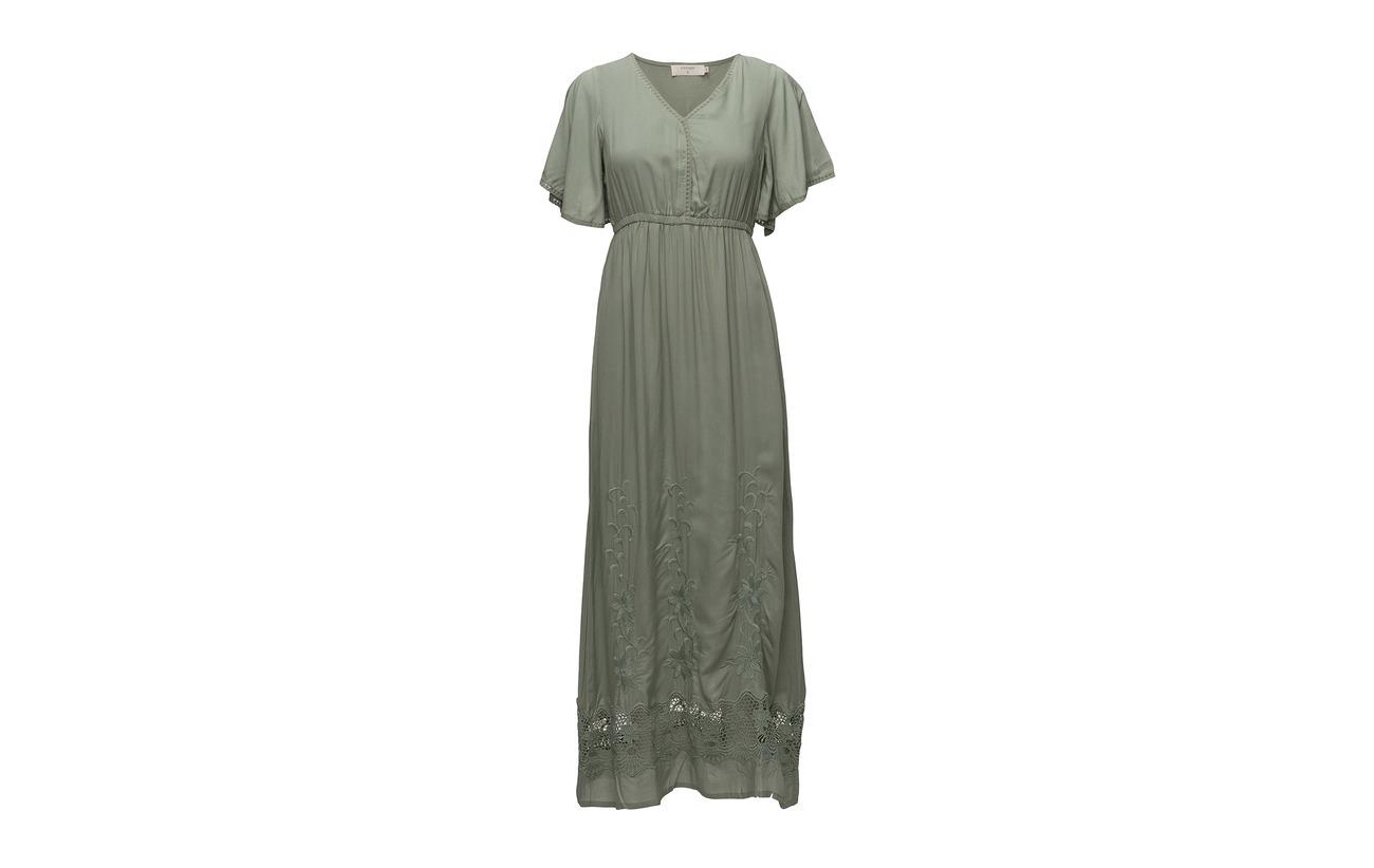 Cream Polyester Doublure Green Lily Abby 100 Intérieure Dress Viscose Équipement rn4q0rxwBg