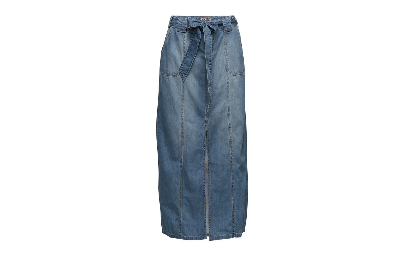 Coton Light Skirt Denim Helena 100 Blue Cream 4BPA8naw