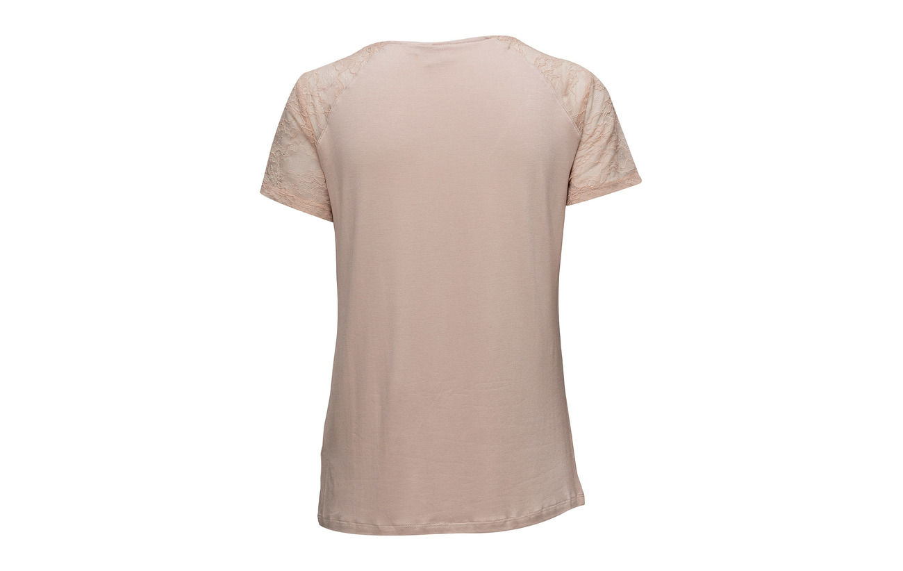 95 Elastane Dust Rose T Cream Viscose Saseline 5 shirt 4TPOXXq