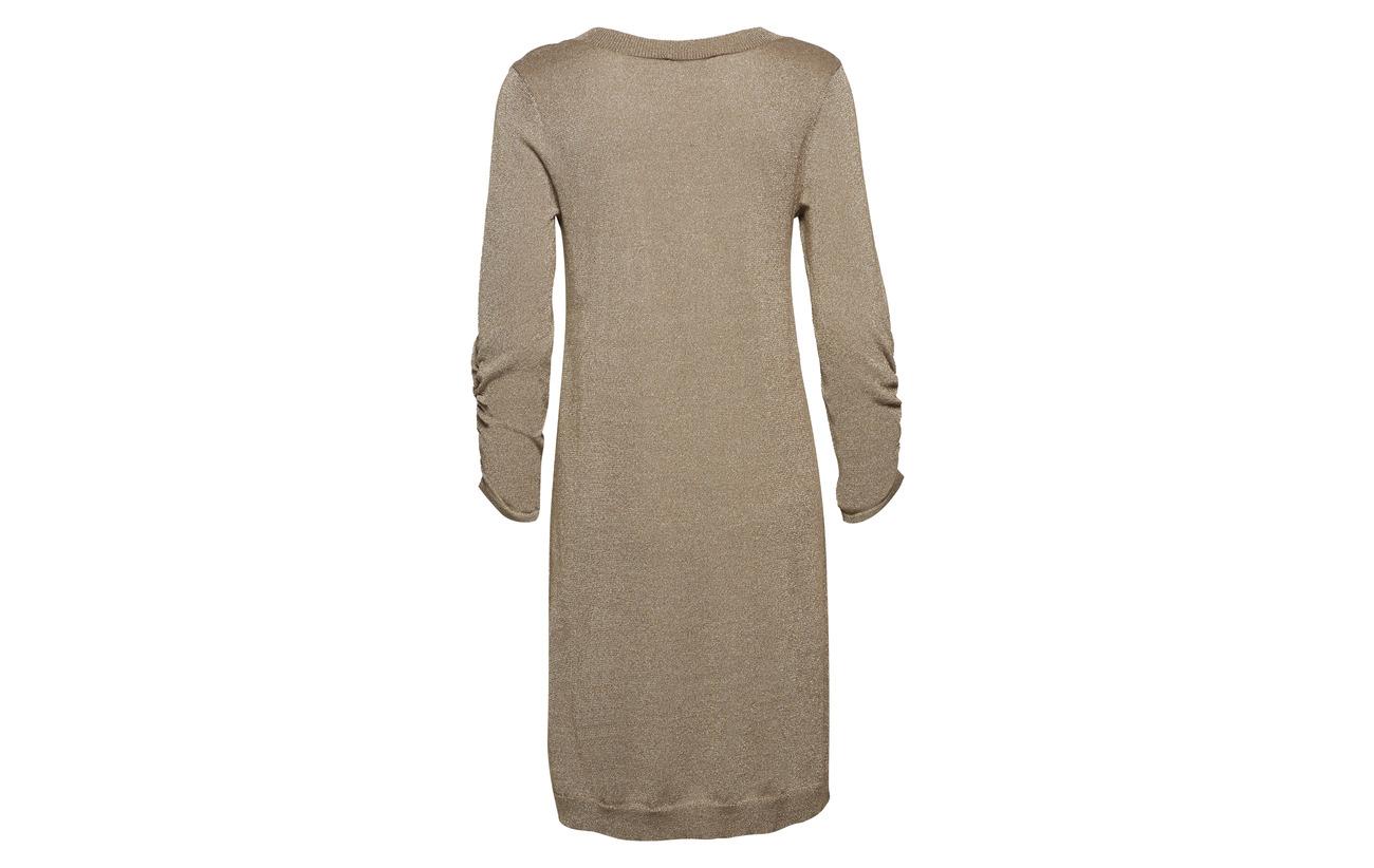 4 Brown 3 Sl Cream Viscose Dress Knit 45 Gold Serena Polyamide 28 Overknee 27 Metallicyarn wxfnZ0qXZ