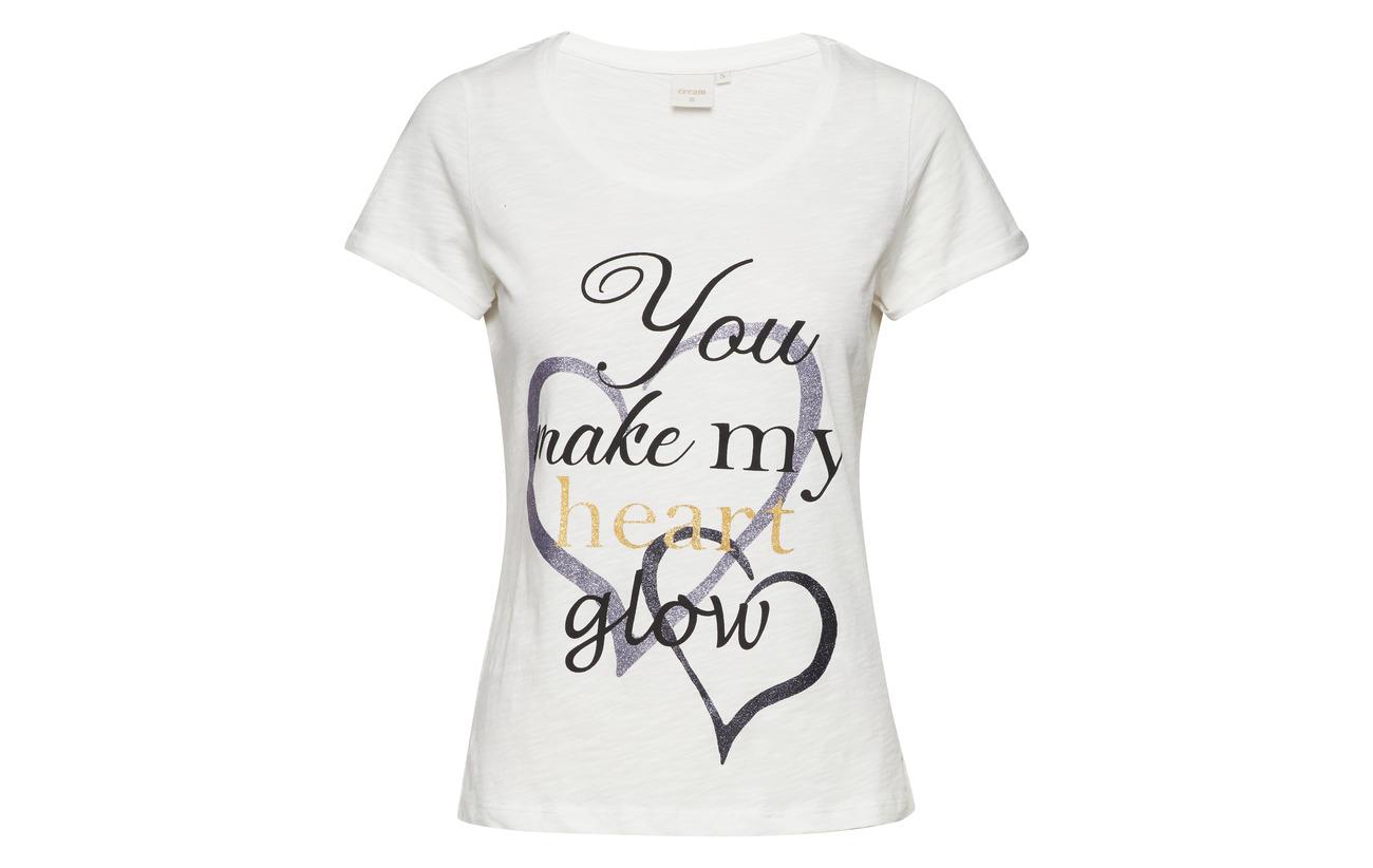 Grey Tshirt Melange Cream Coton 100 Liana Light ga8AxAq