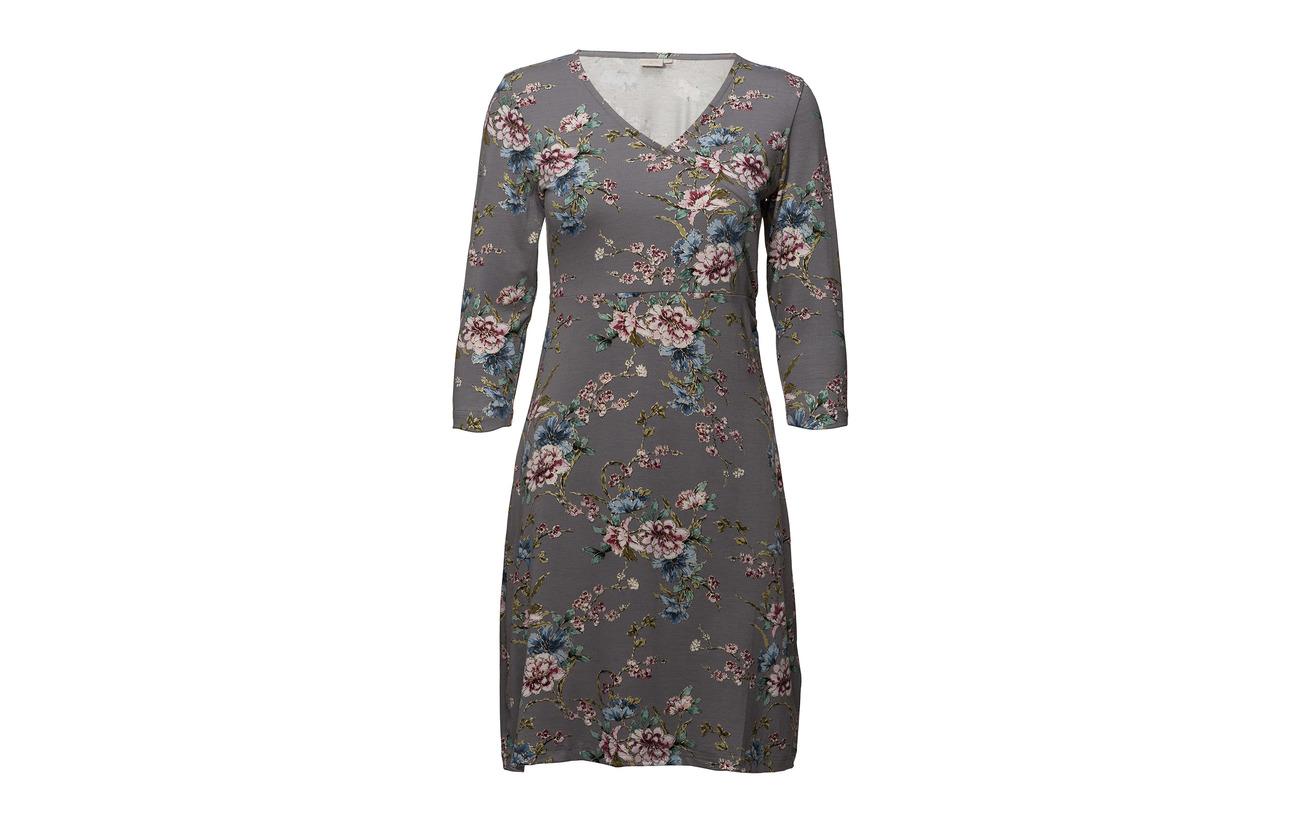95 Rosemary Cream Viscose 5 Wood Elastane Rose Dress wOnq6AF