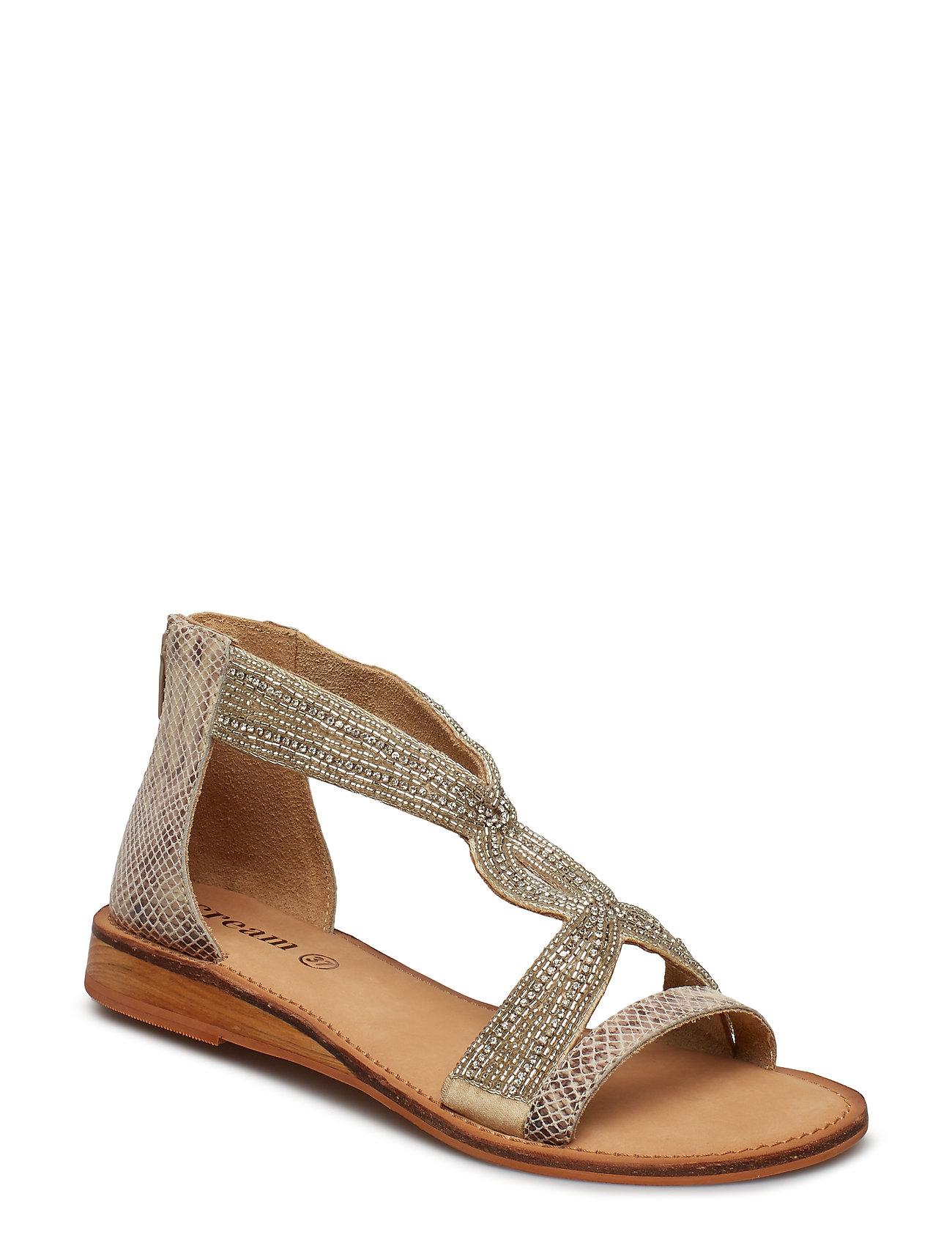 168449cbd686 Cream flade sandaler – Stellia Sandal til dame i DARK SAND - Pashion.dk