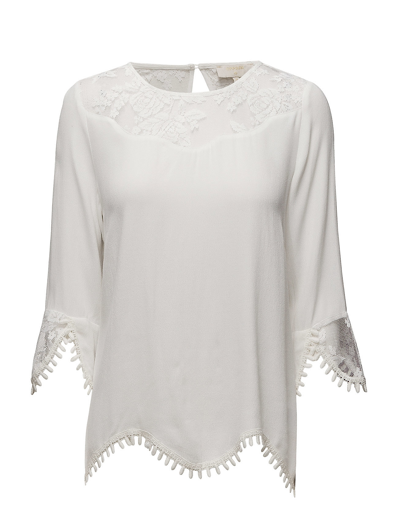 Cream Kalanie Blouse - CHALK