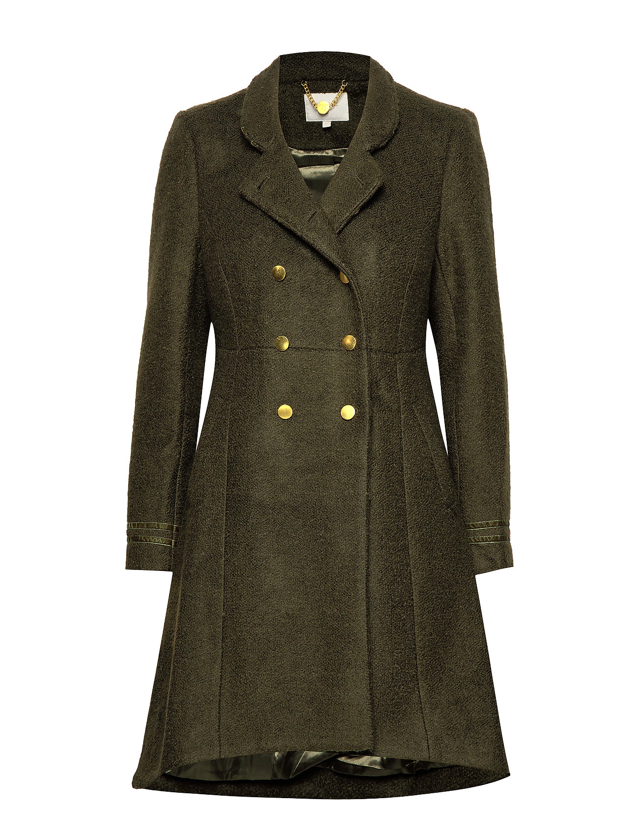 Cream Annabell Coat - FOREST NIGHT