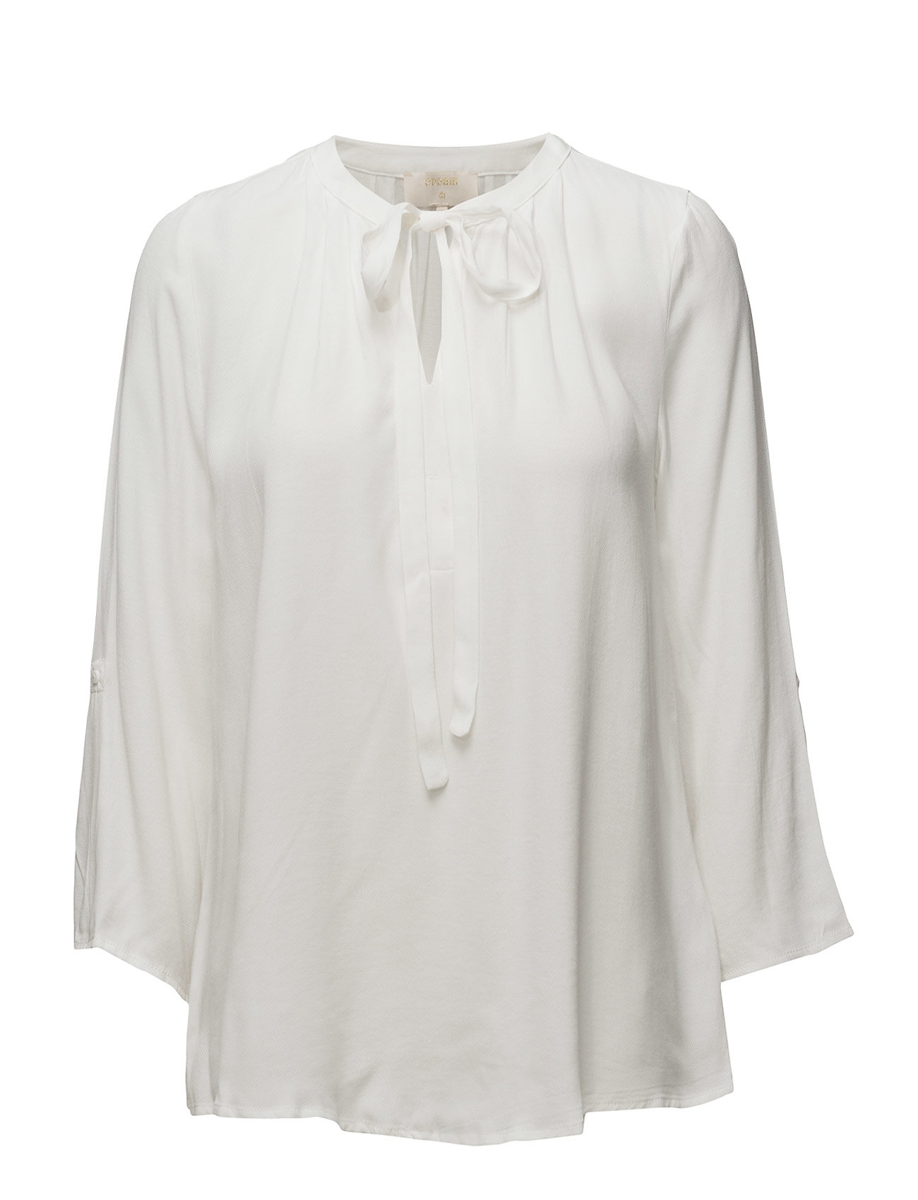 Cream Vera 3/4 sleeve blouse - CHALK
