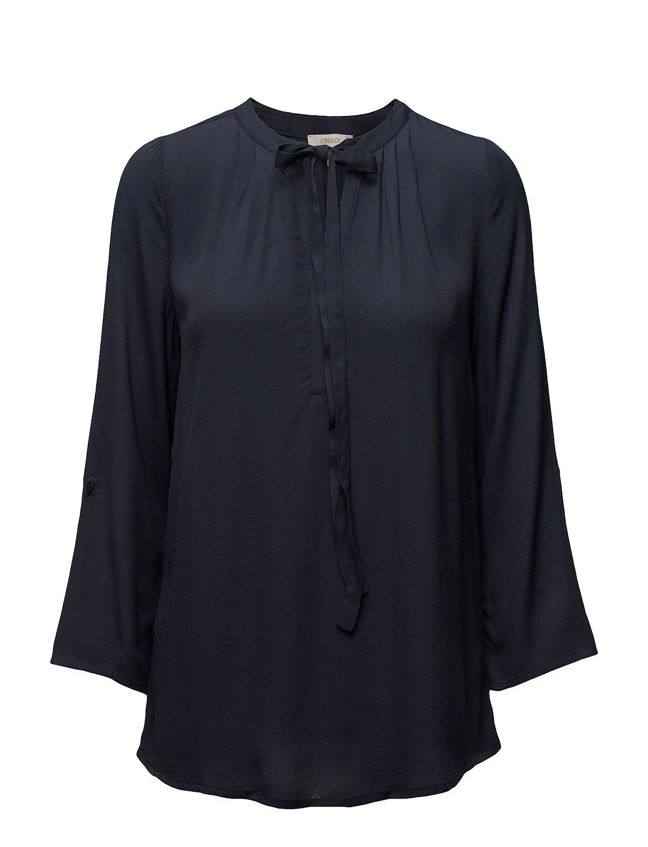 Cream Vera 3/4 sleeve blouse - ROYAL NAVY BLUE