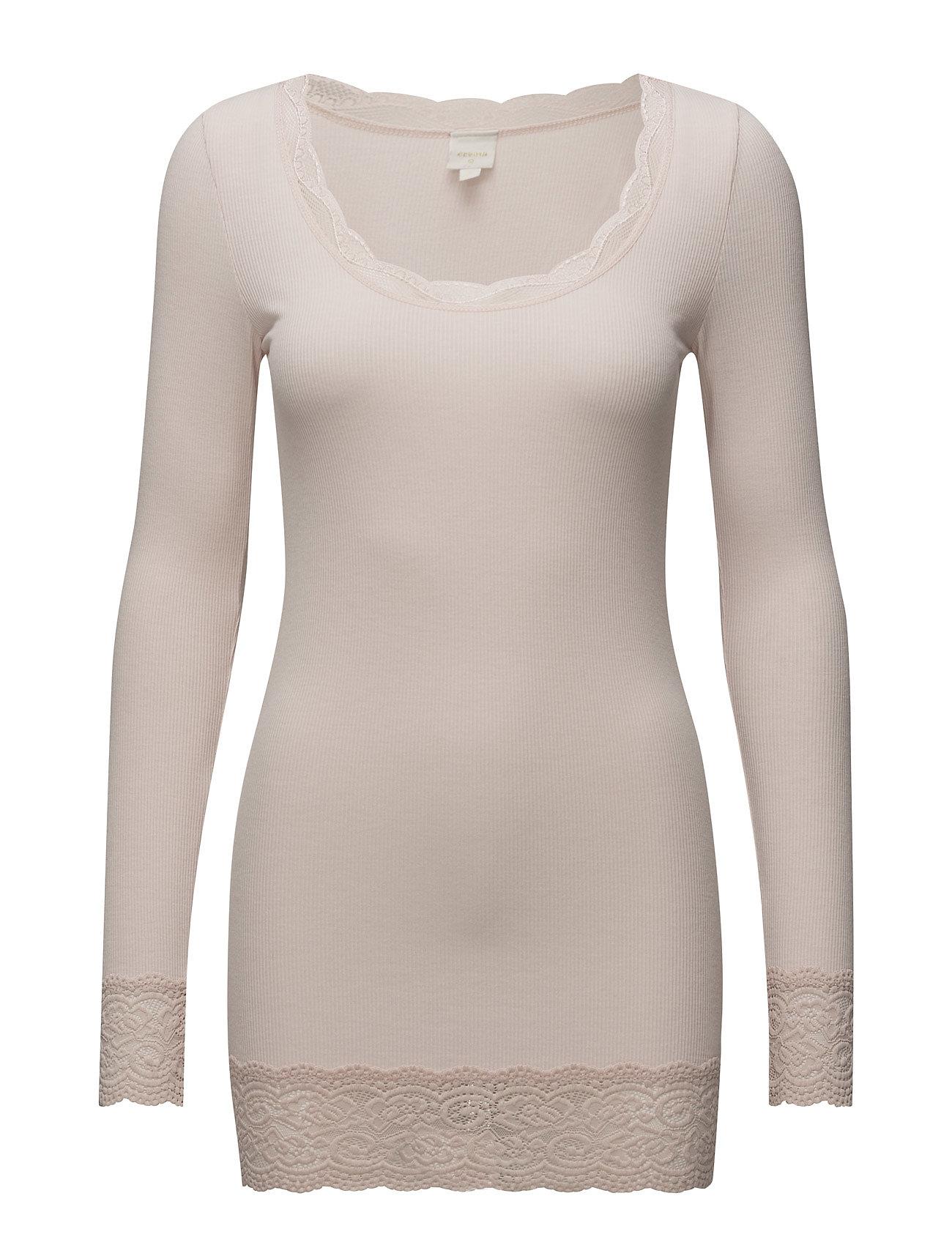 Vanessa LS T Shirt Langærmet T shirt Lyserød Cream