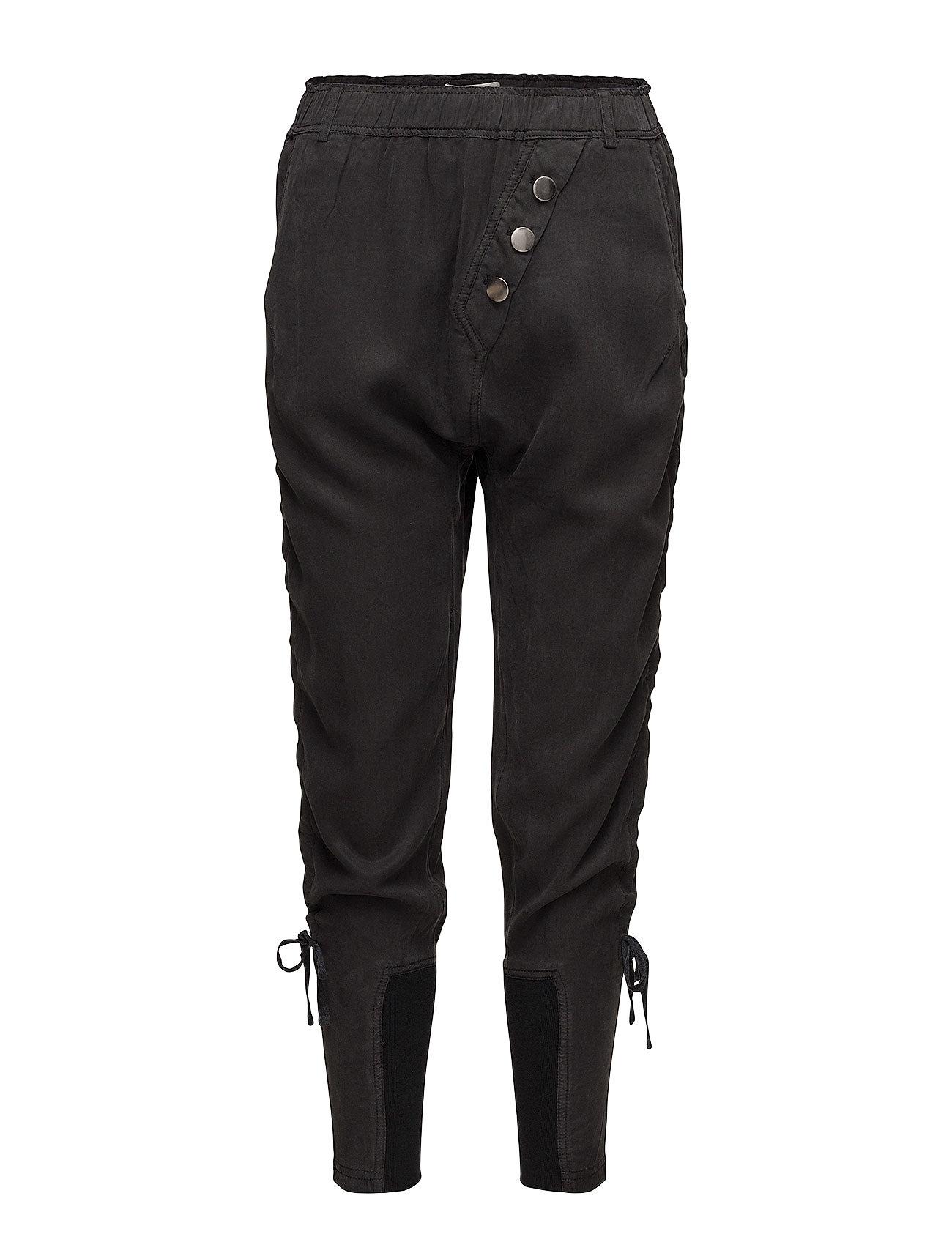 Sillian Pants Casual Bukser Sort Cream