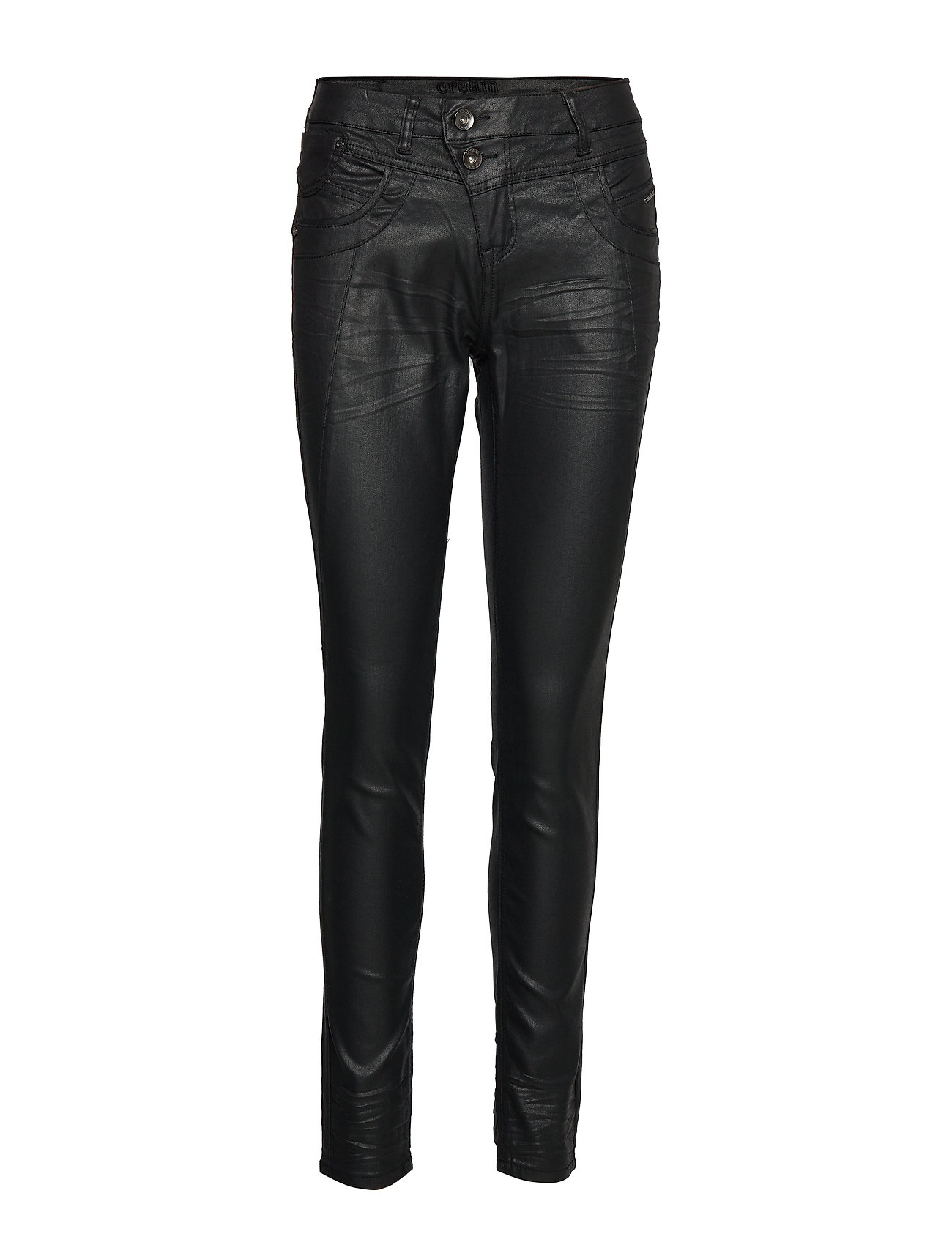 Cream Corin coated jeans-baiily fit - PITCH BLACK