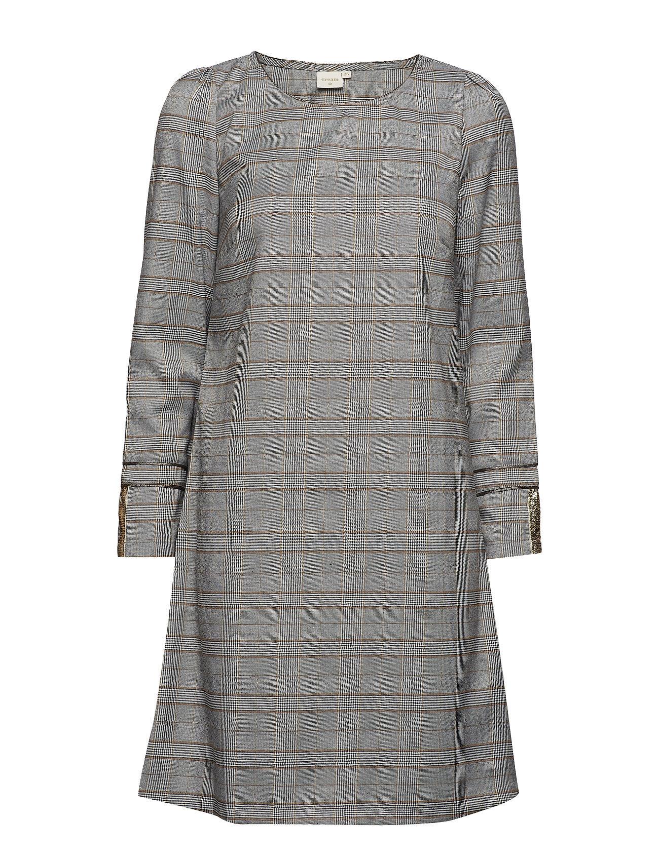 Cream Chery dress stripe - overknee - PITCH BLACK