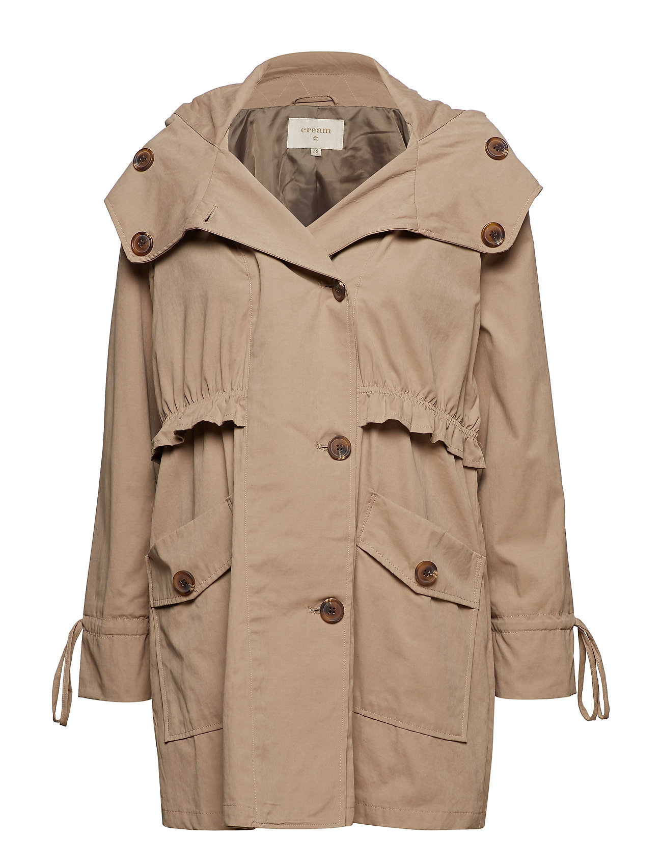 Cream Helena coat - WET SAND