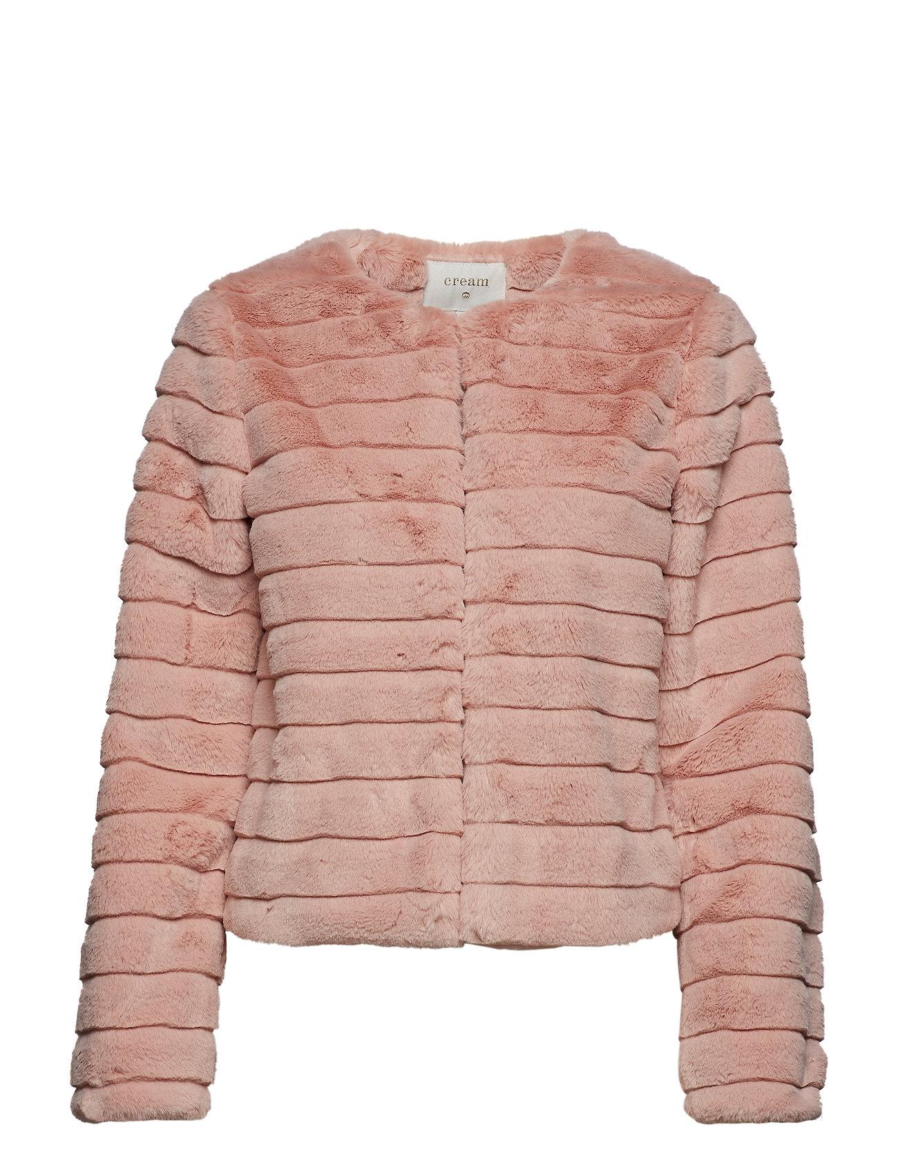 Cream Pudel Fur Jacket Ytterkläder