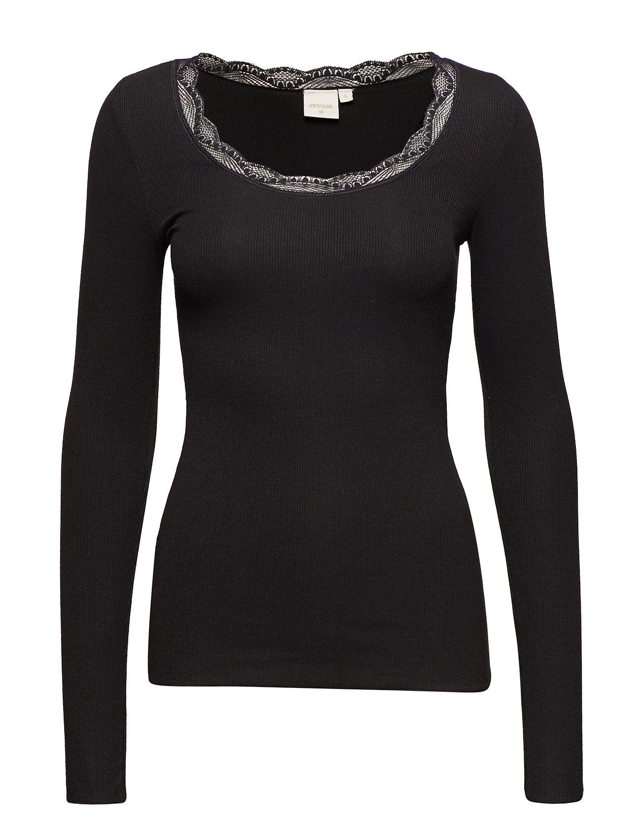 8d0e3d2c820e Vanessa L s T-shirt (Pitch Black) (249.95 kr) - Cream -