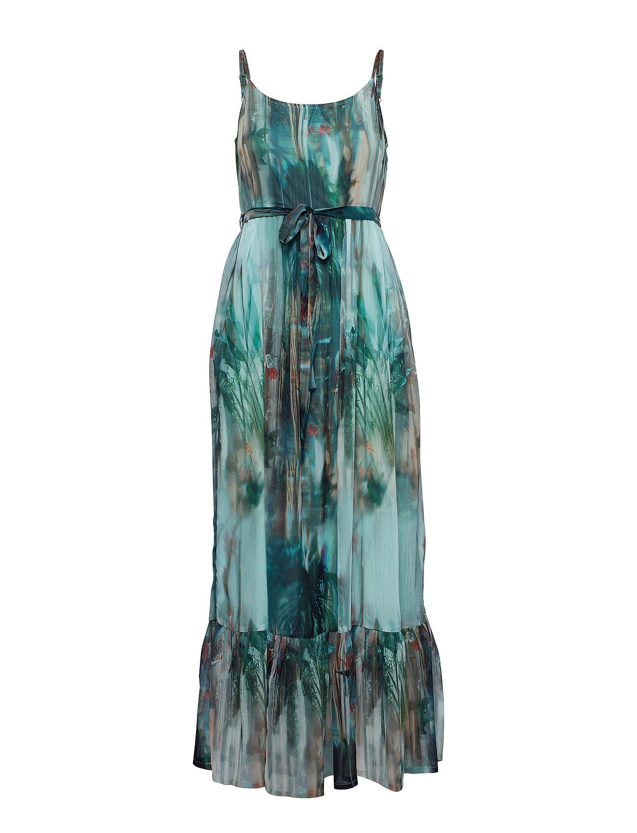 Cream Jeanne Long Dress - MALACHITE GREEN