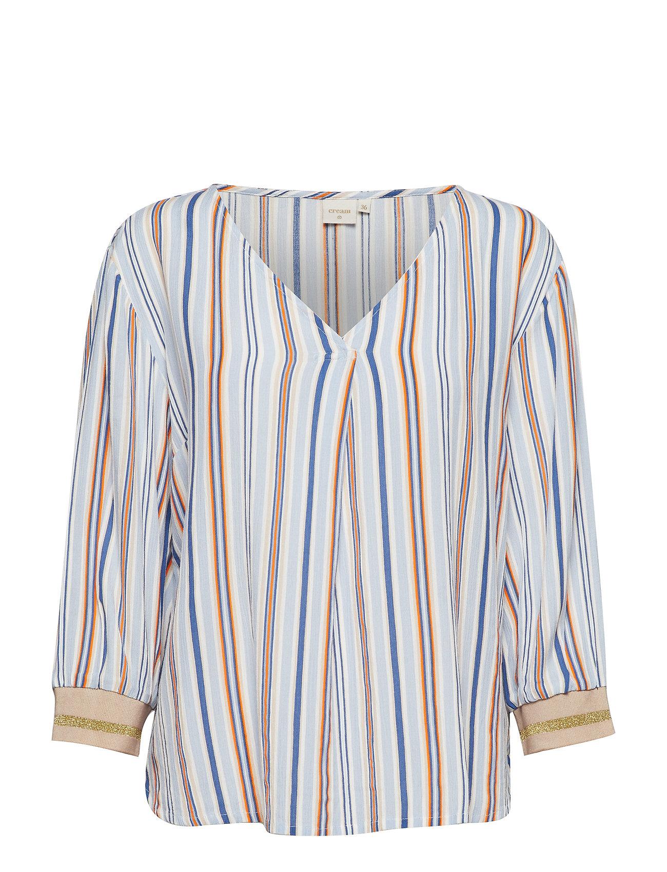 Cream Cerissa blouse - CASHMERE BLUE