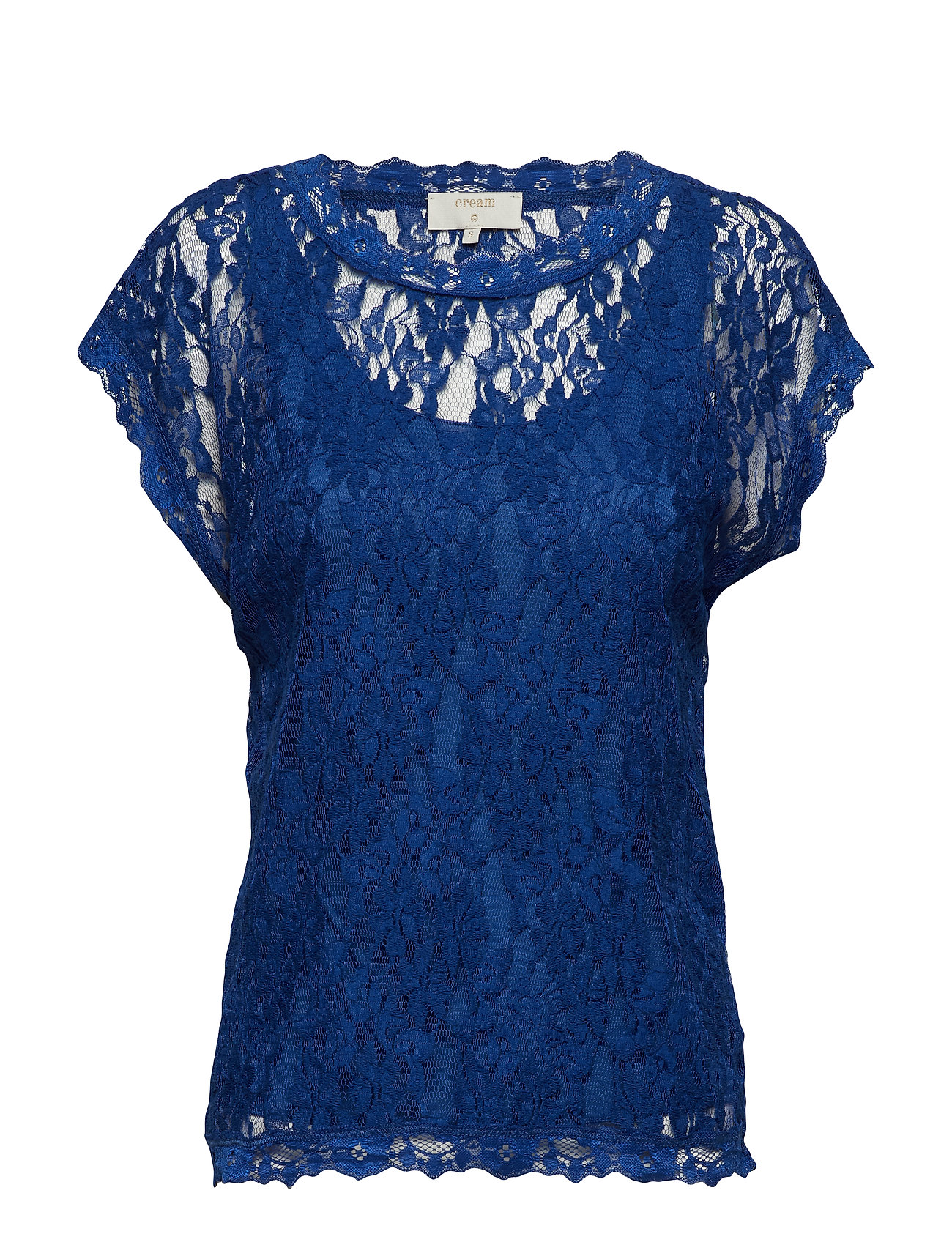 Cream Vivi Lace Blouse - LIMOGES BLUE