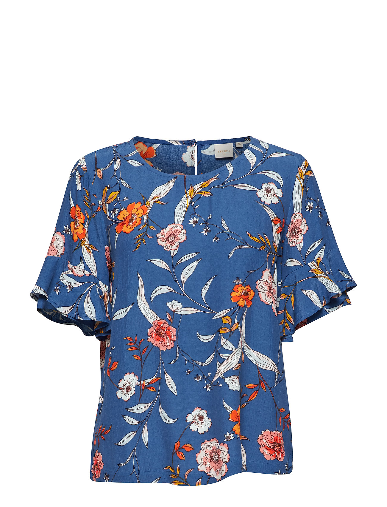 Cream Ally ss blouse - LIMOGES BLUE