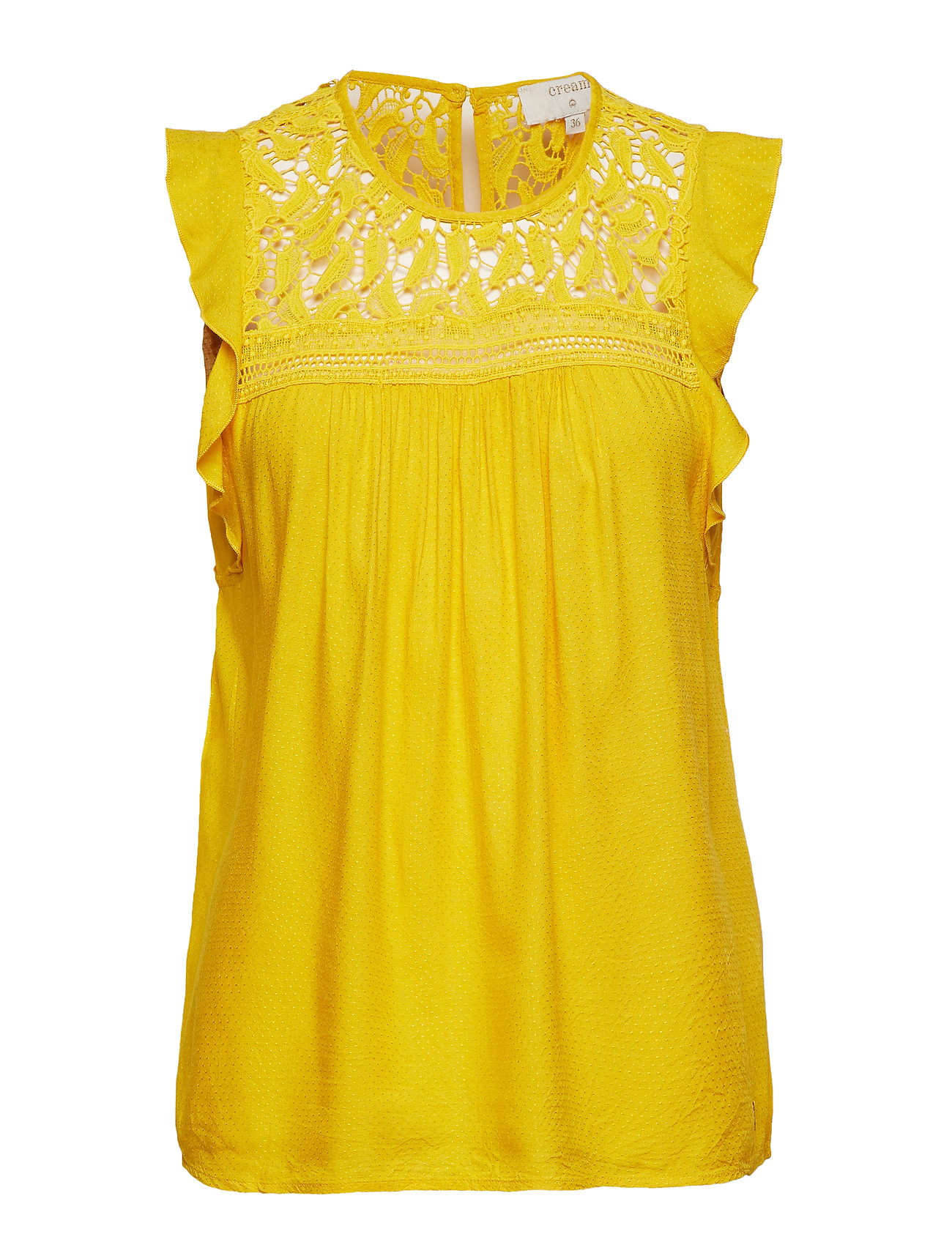 Cream Chalize Blouse - SUNNY YELLOW