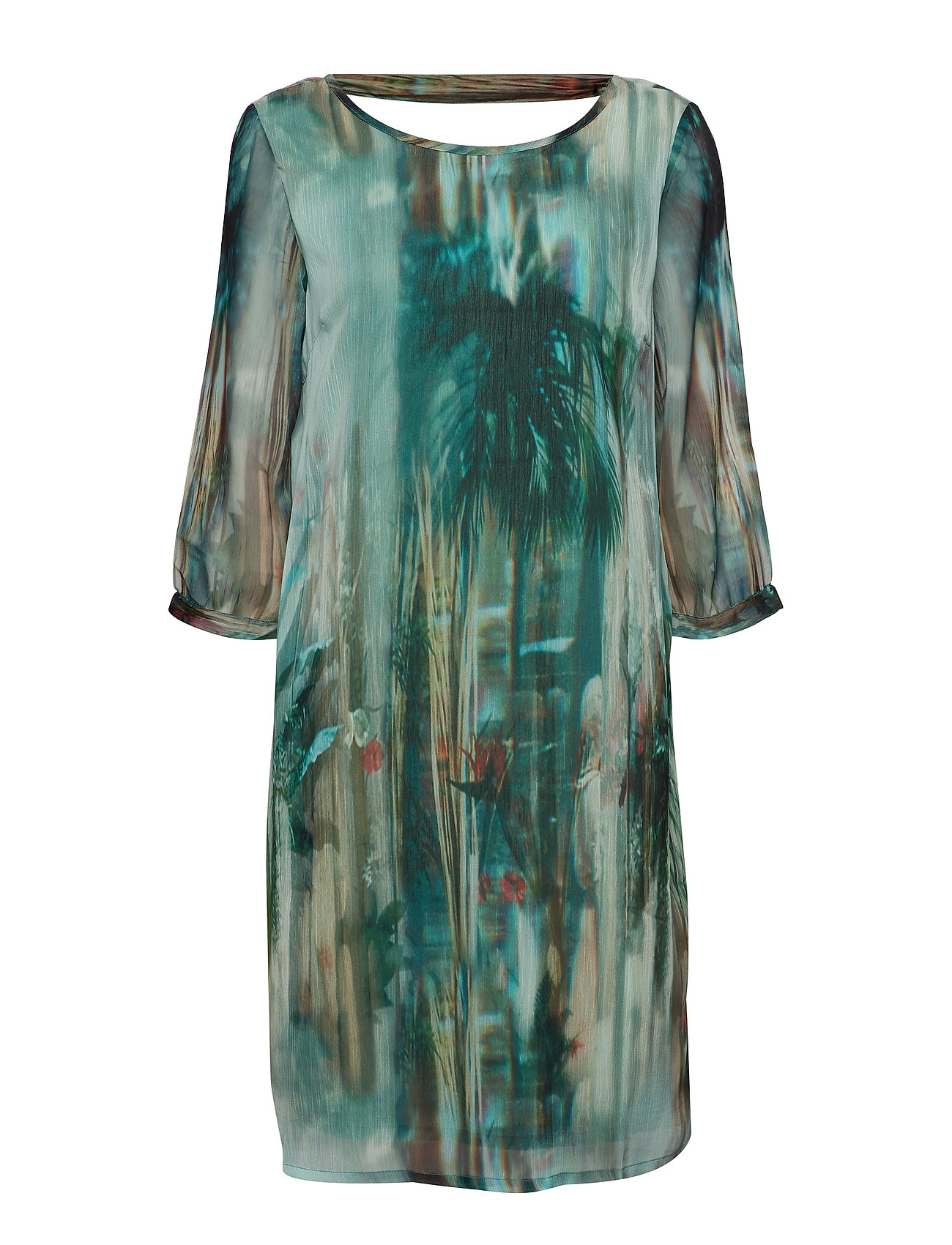 Cream Jeanne Dress - MALACHITE GREEN