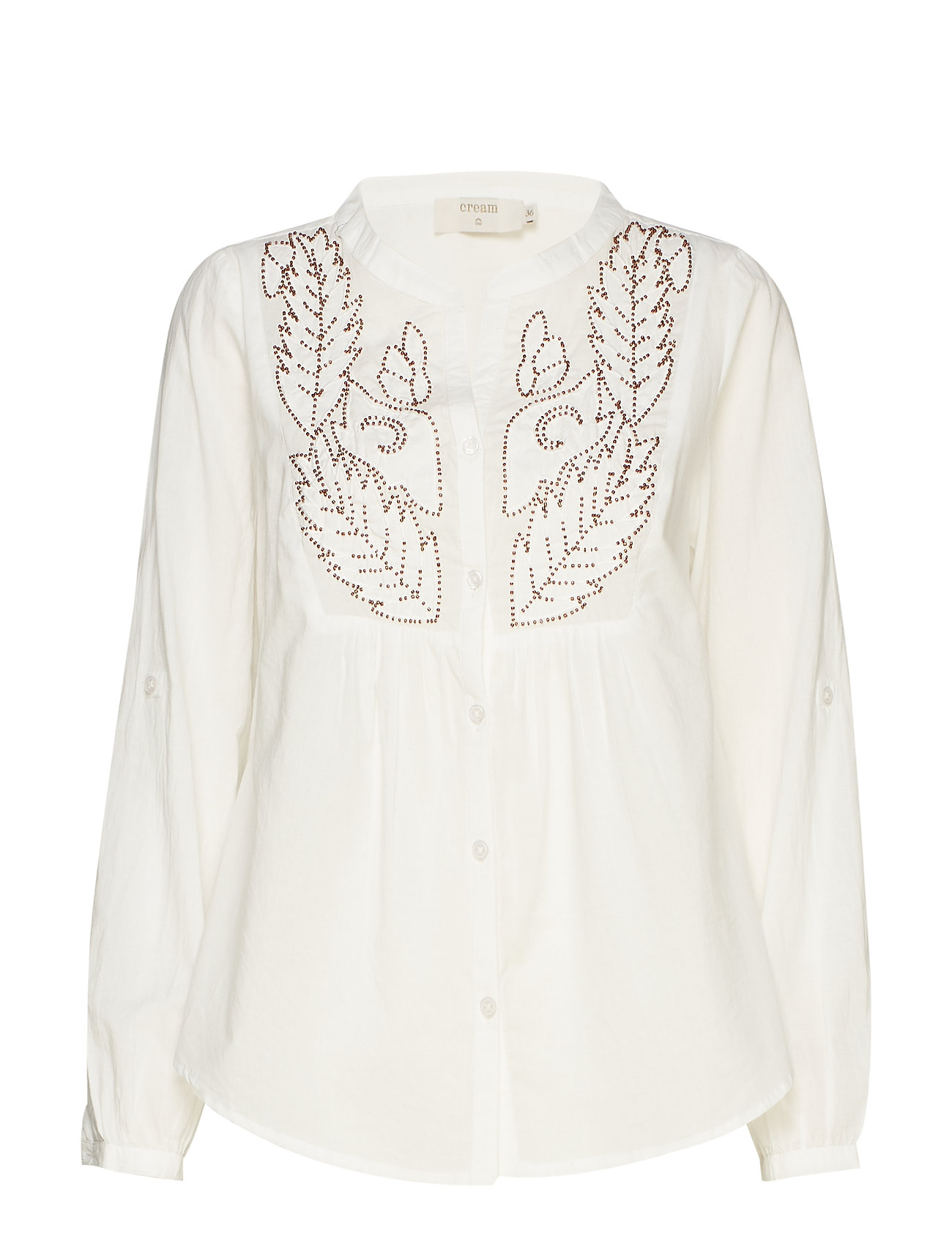 Cream Jolina shirt - CHALK