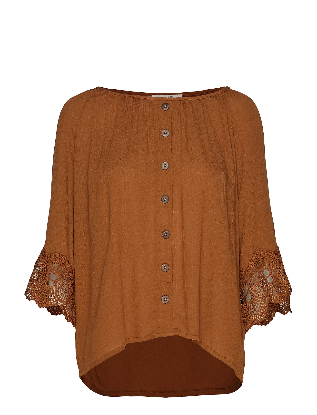 Cream Bea button blouse - BRONZED