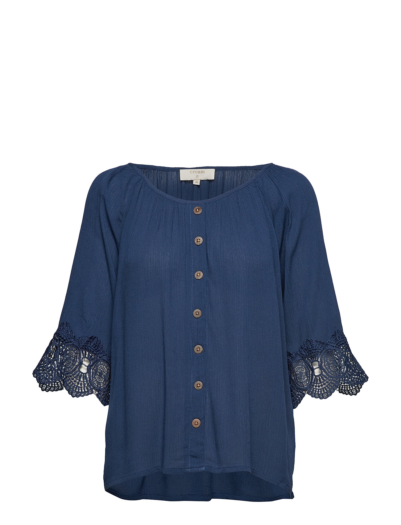 Cream Bea button blouse - DARK DENIM