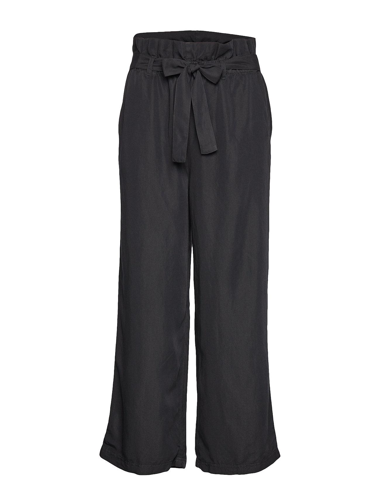 Cream Gaya Culotte Pants - PITCH BLACK