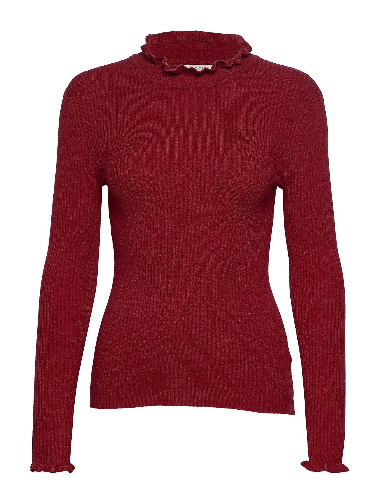 Cream Helena Pullover - MERLOT RED