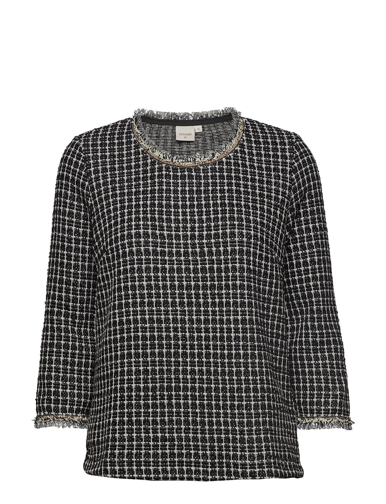 Cream Caney blouse - PITCH BLACK