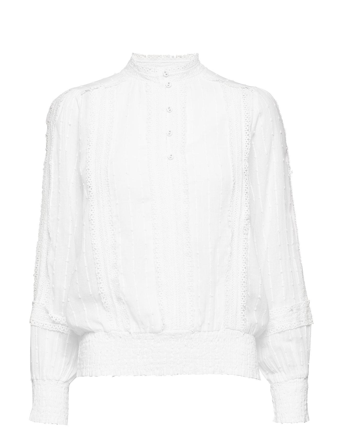 Cream Haylie blouse - CHALK