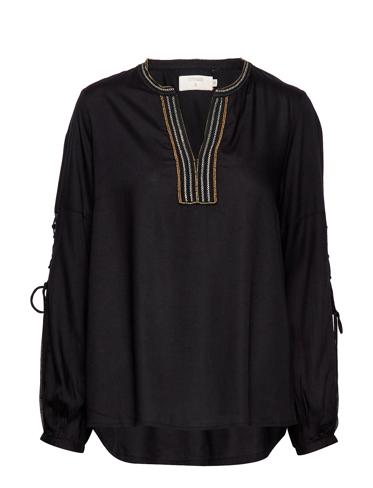 Cream Luxa blouse - PITCH BLACK
