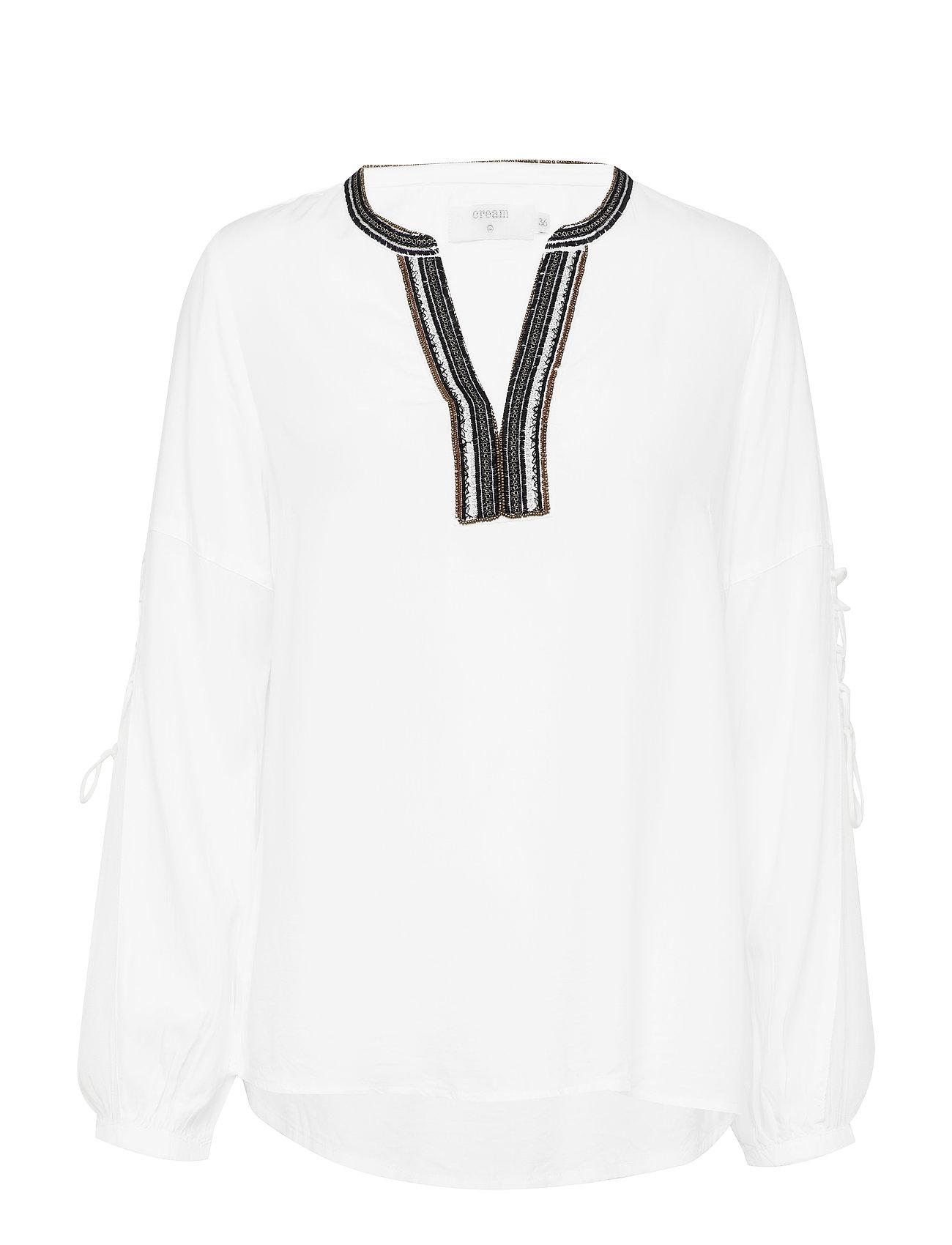 Cream Luxa blouse - TOFU WHITE
