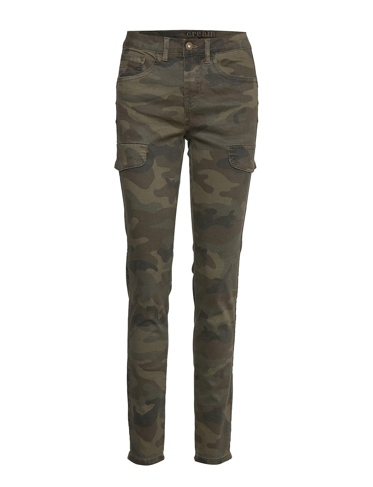 Cream Anina carmu pants - shape fit - SEA GREEN