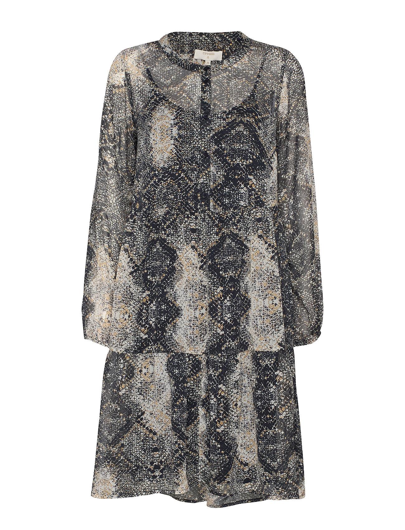 Cream Snaky dress - PITCH BLACK