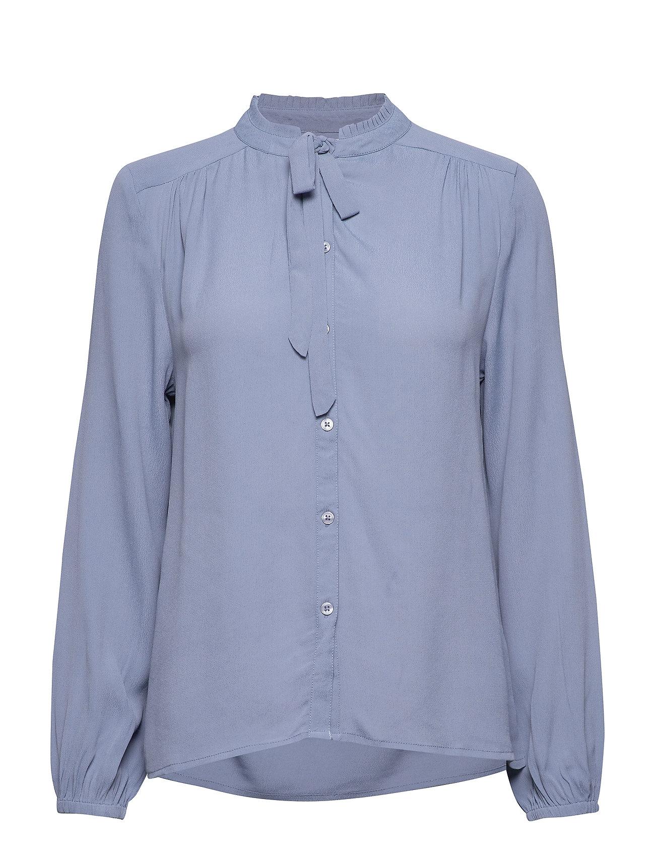Cream Ava Shirt - INFINITY BLUE