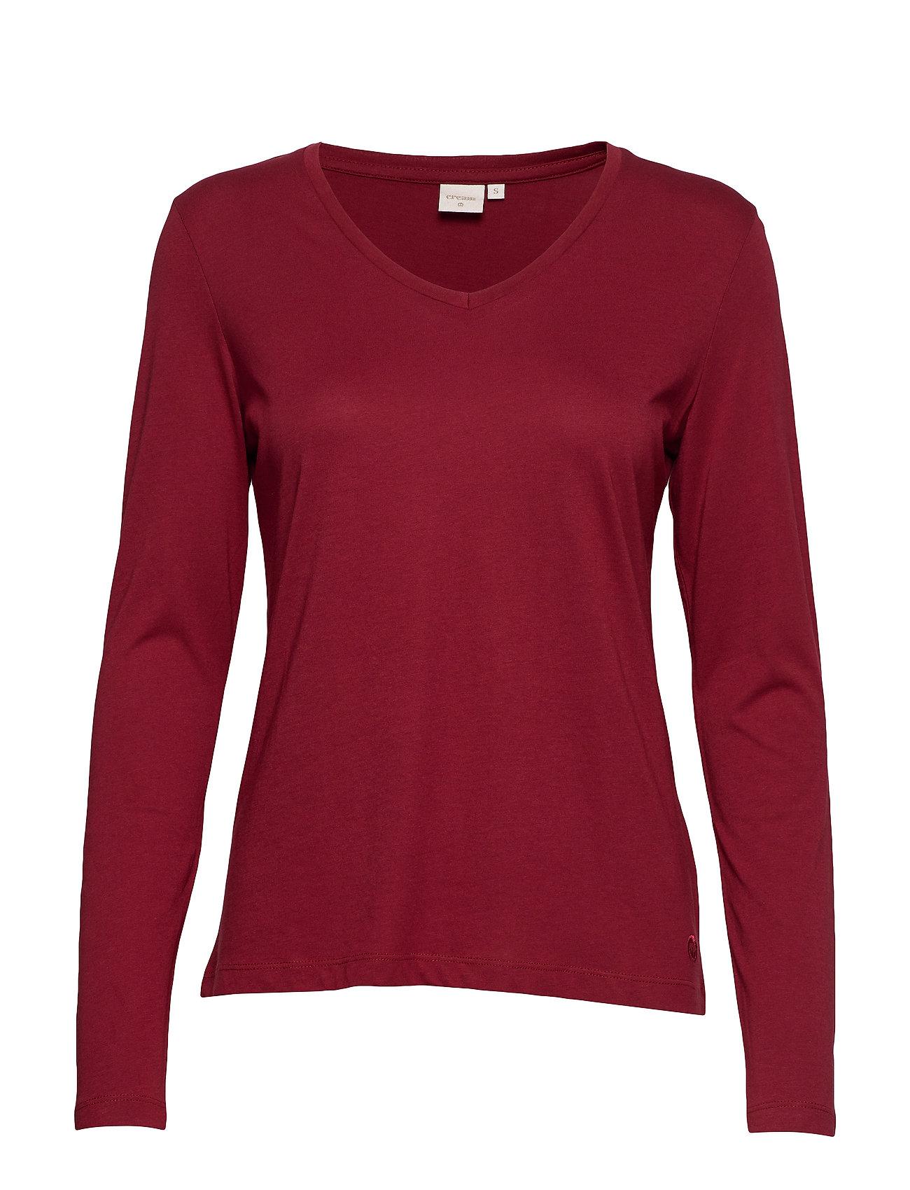 Cream Naia long sleeve T-shirt - MERLOT RED