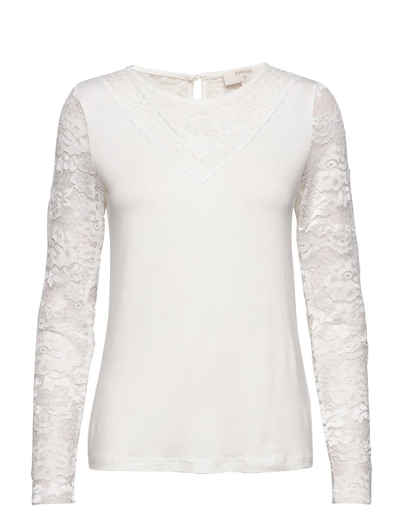 Cream KaneCR Long Sleeve T-shirt - CHALK