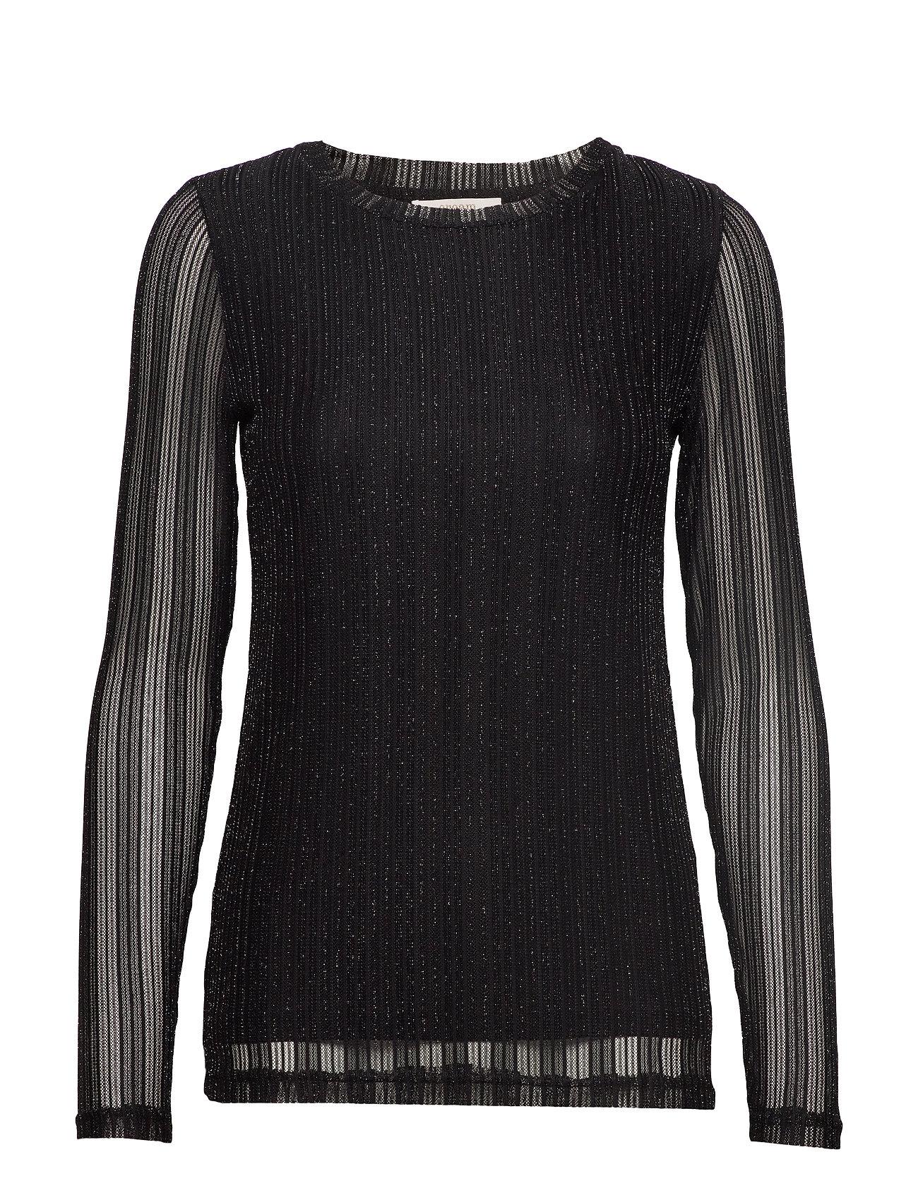 Cream ZoeCR Long Sleeve T-shirt - PITCH BLACK