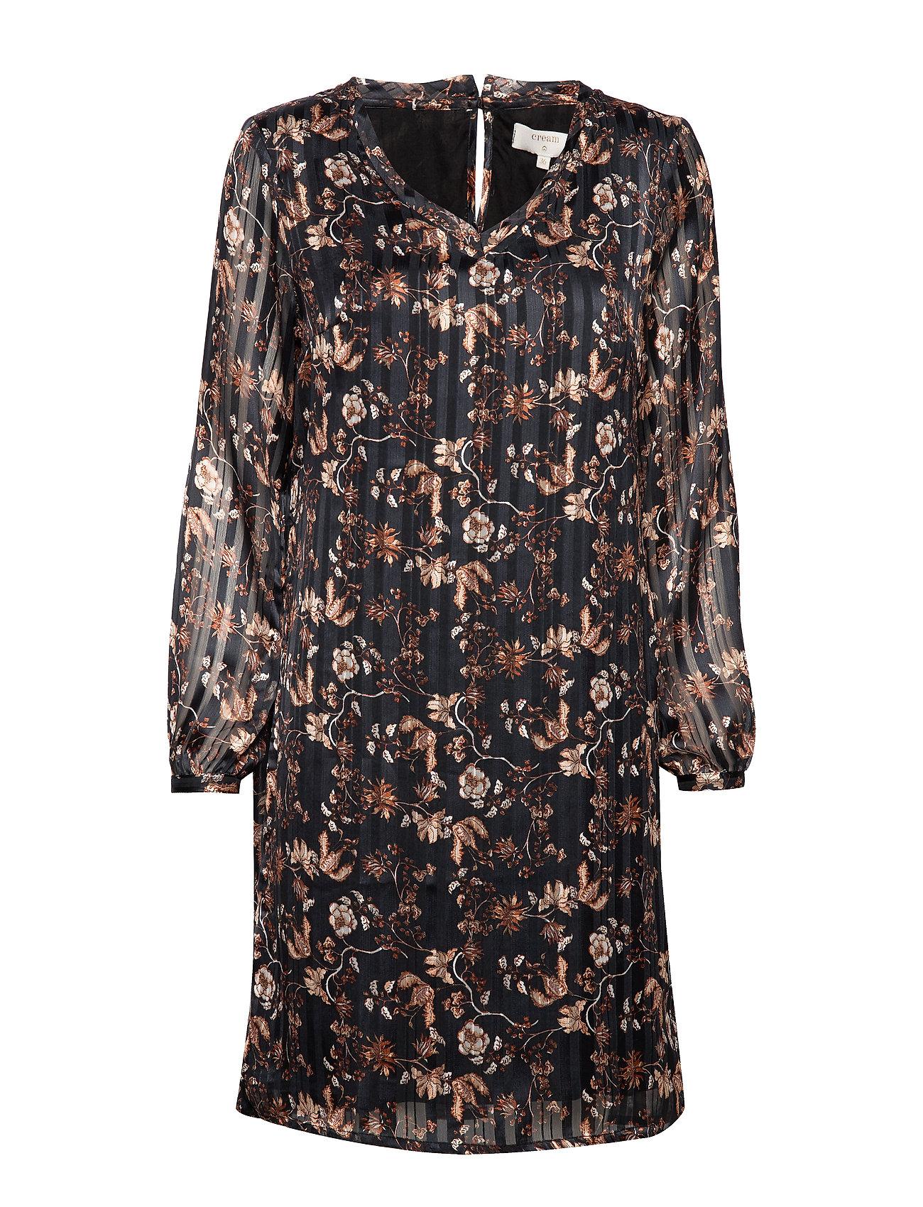 Cream Nila Dress - PITCH BLACK
