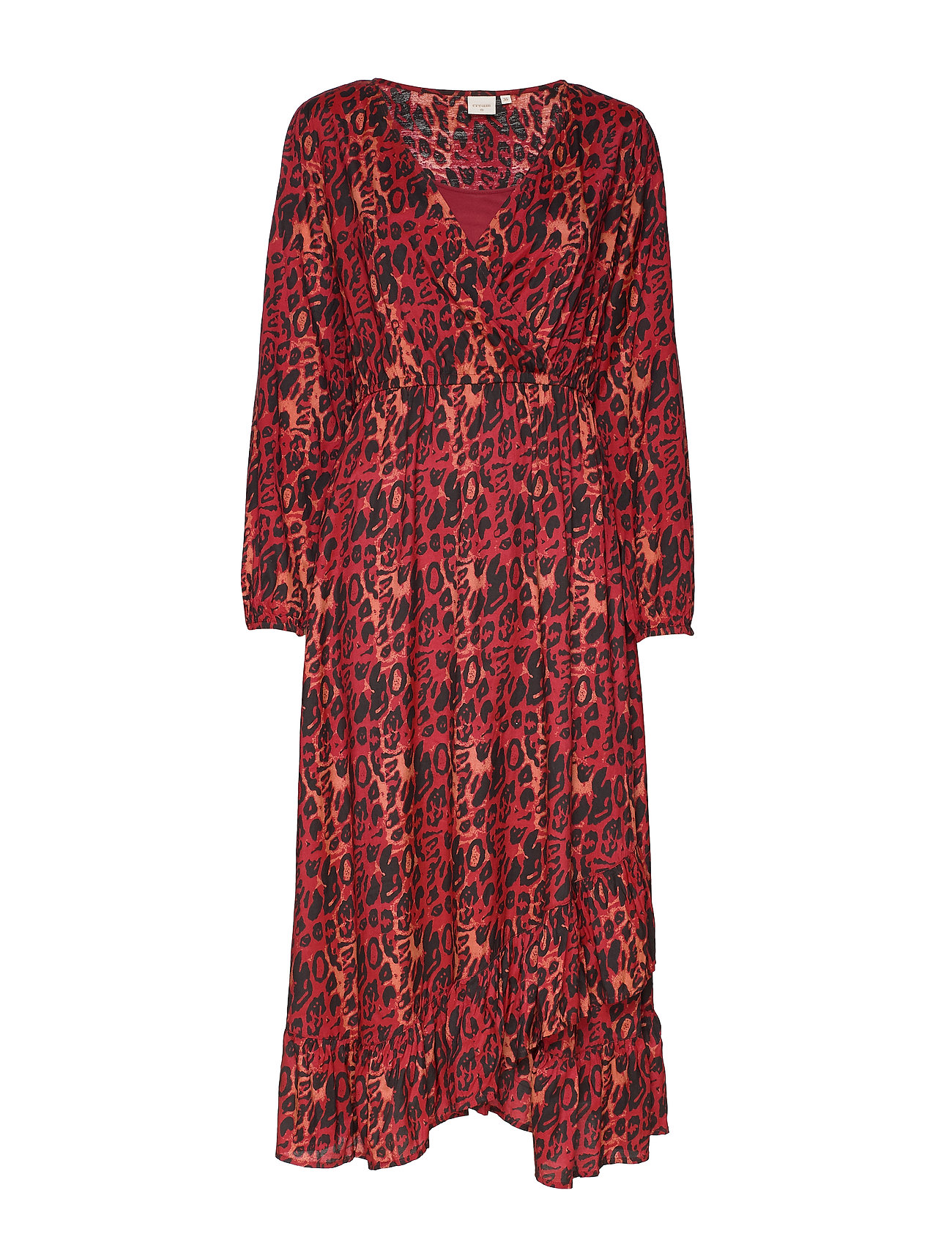 Cream IsleyCR Dress - MERLOT RED