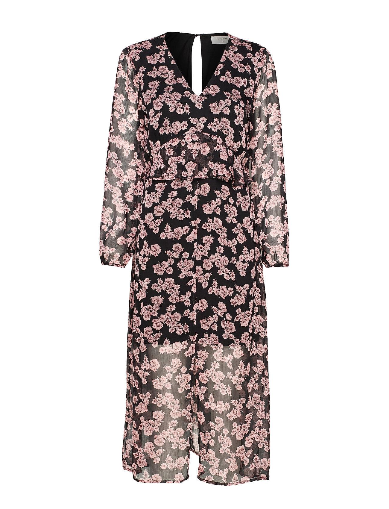 Cream JapaCR Dress - ALLOVER PRINT BLACK/ROSA