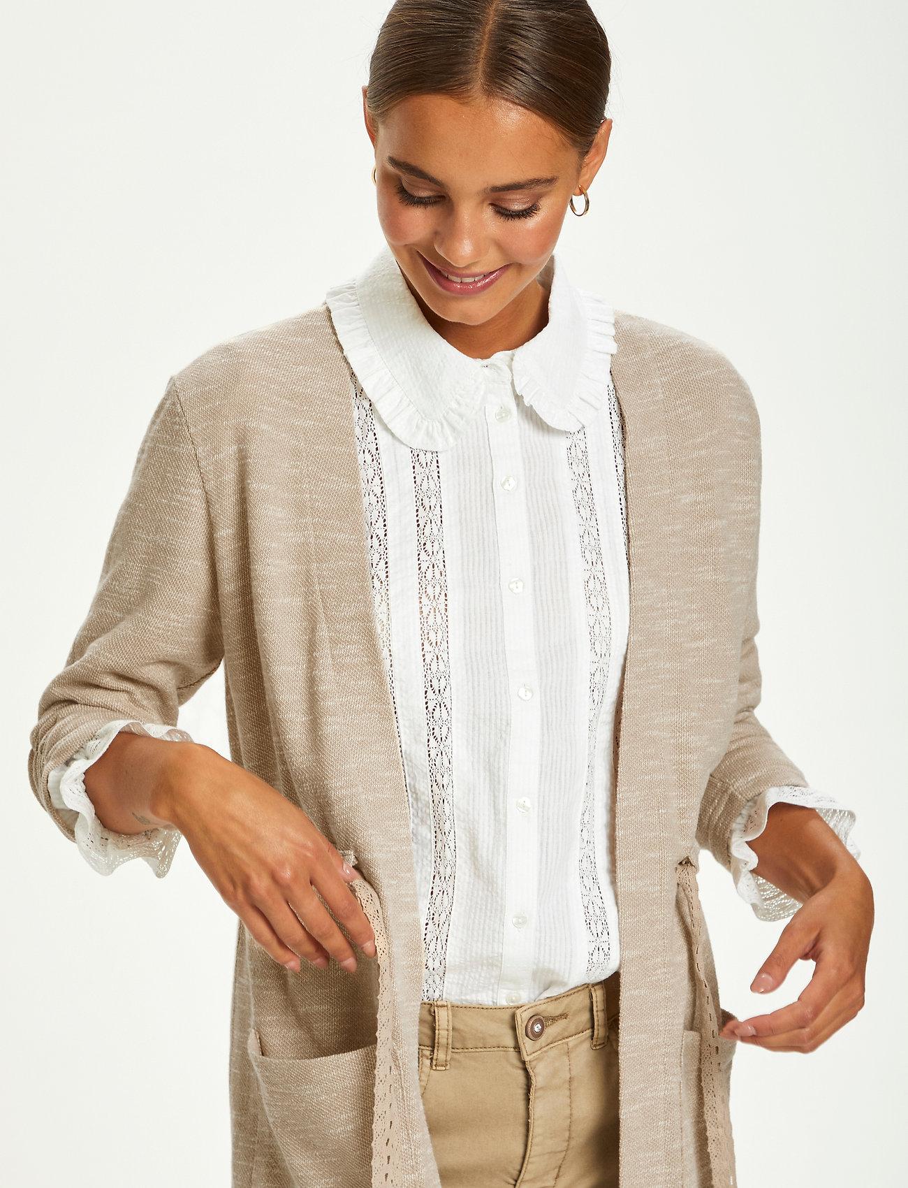 Cream - CRNisah Sweat Cardigan - swetry rozpinane - silver mink melange - 0