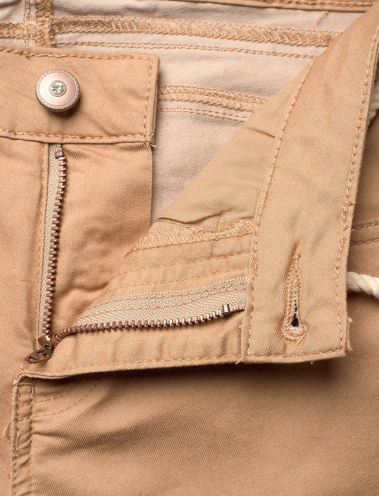 Cream - CRVava Pant 3/4 - Coco Fit - straight regular - tannin - 3