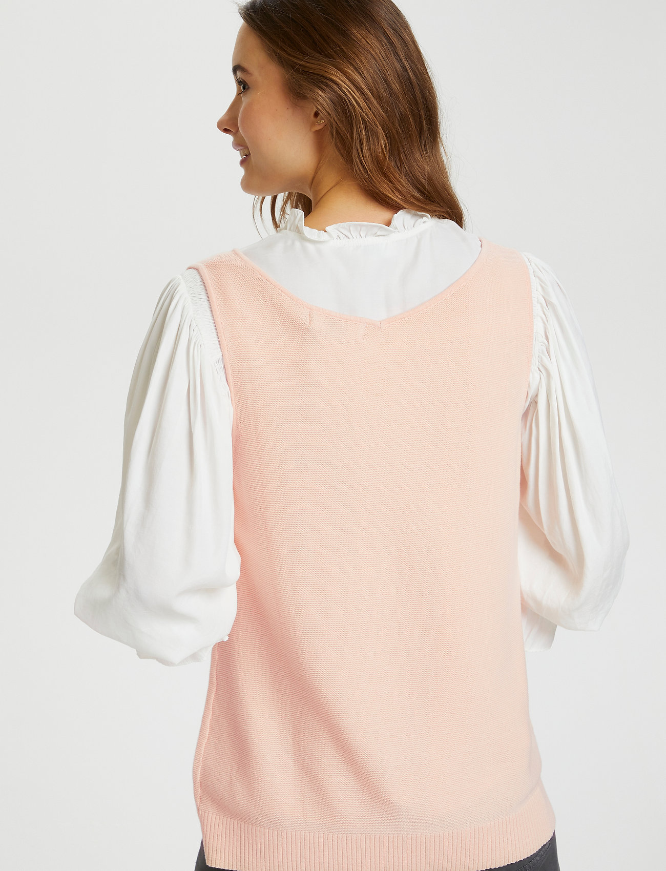 Cream - CRSillar Knit Top - knitted vests - pink sand - 4