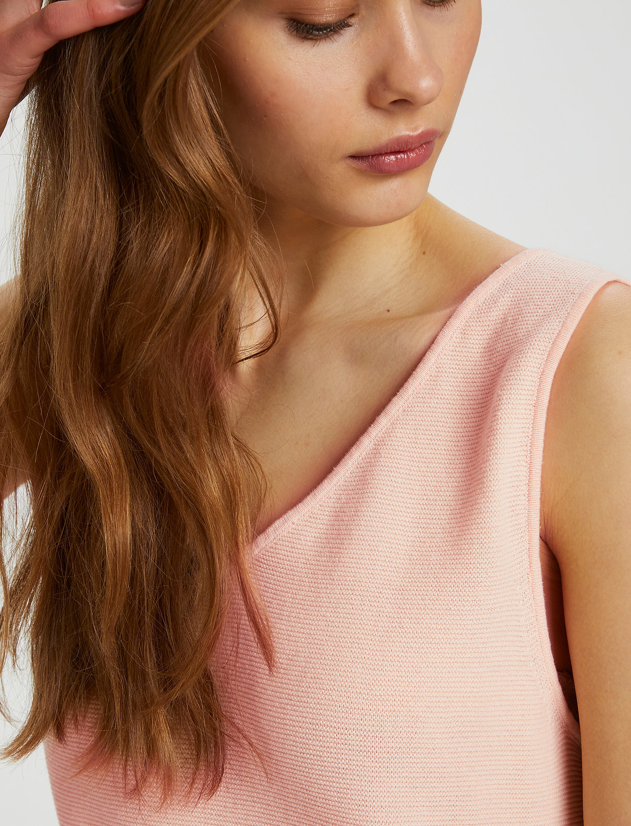 Cream - CRSillar Knit Top - knitted vests - pink sand - 6