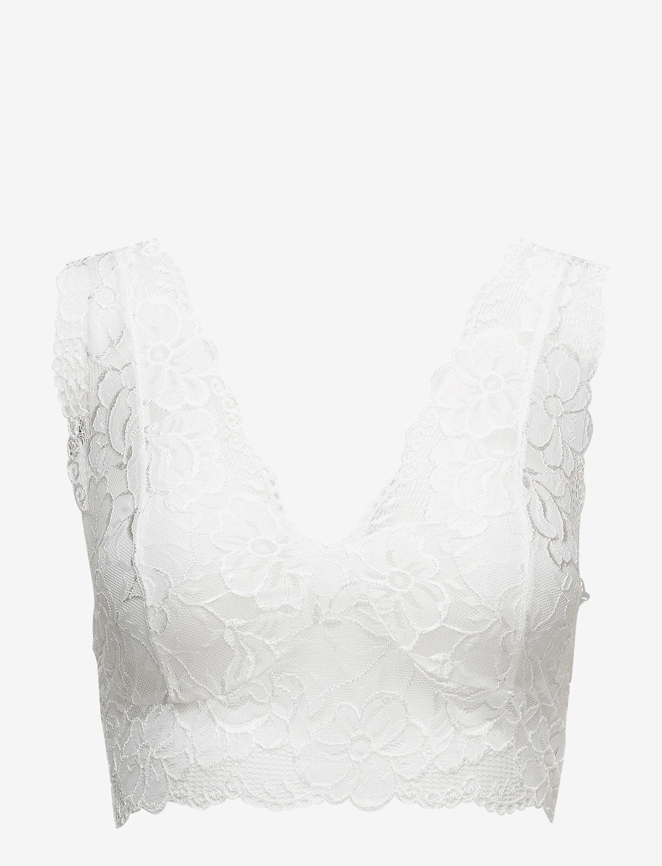 Cream - Glaze Top - bralette & corset - optical white